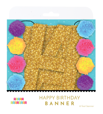 Pom-Pom Happy Birthday Banner