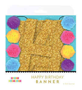 Pom-Pom Happy Birthday Banner Party Partners