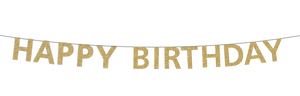 Gold Happy Birthday Banner Party Partners