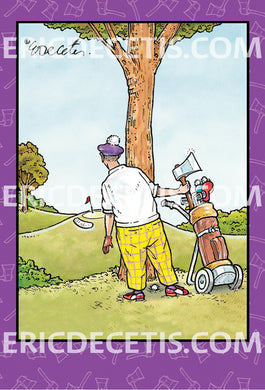 Birthday Card Eric Decetis Golfer With Axe  96063 - Cardmore