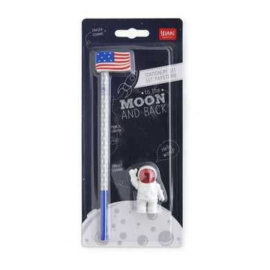 Set Of 2 Erasers And 1 Pencil To The Moon