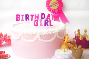 Birthday Girl Letter Candle Set Party Partners