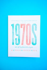 Birthday - The 1970s Card - Gia Graham