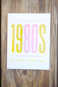 Birthday - The 1980s Card - Gia Graham