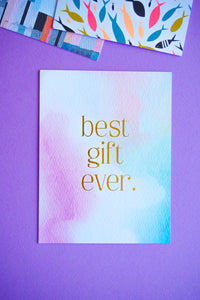 Best Gift Ever Baby Card From Me To You
