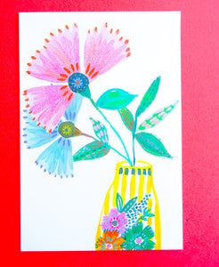 Boho Flowers Get Well Card