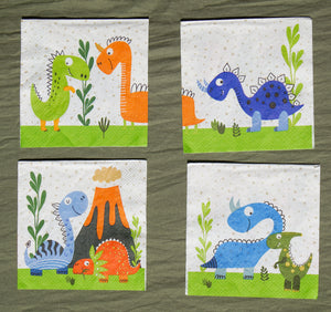 Dinosaur Cocktail Napkins Party Partners