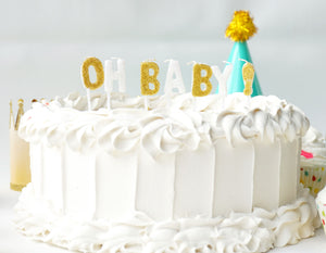 Oh Baby! Letter Candle Sets Party Partners