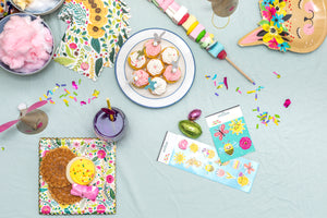 Floral Scalloped Dessert Plates Party Partners