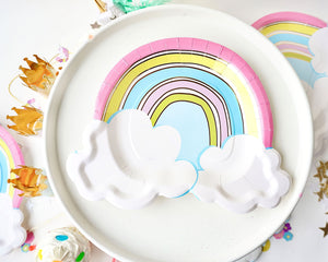 Rainbow Dessert Plates Party Partners