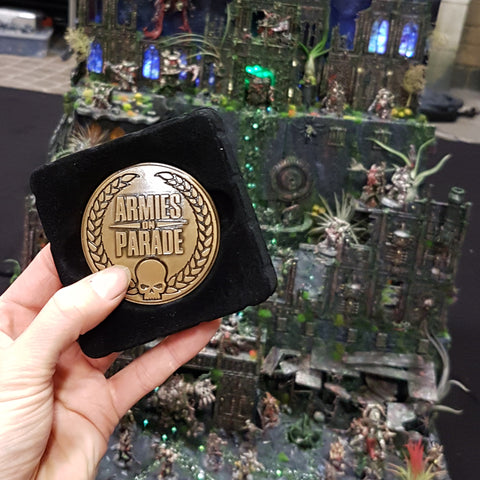 My gold medal from Armies on Parade at Warhammer World UK in 2018