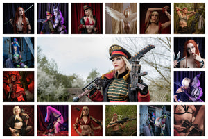 Teasers of the sexy warhammer cosplay photo sets available from Nerd Princess