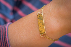 Brass Bar Bracelet