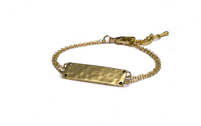 Brass .50 Caliber Bar Bracelet