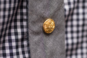 Brass Military Button Tie Tack