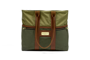 *PRE-ORDER* Green Signature Zip Top Tote Bag