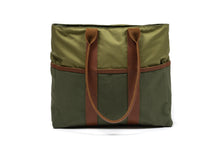 Green Signature Zip Top Tote Bag