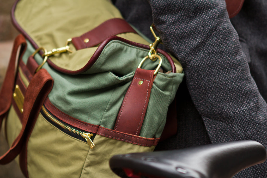 Green Signature Messenger Bag