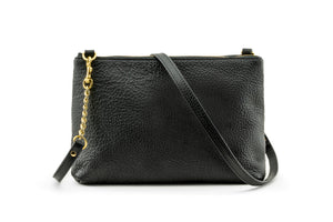 *PRE-ORDER* Black Leather Crossbody Bag