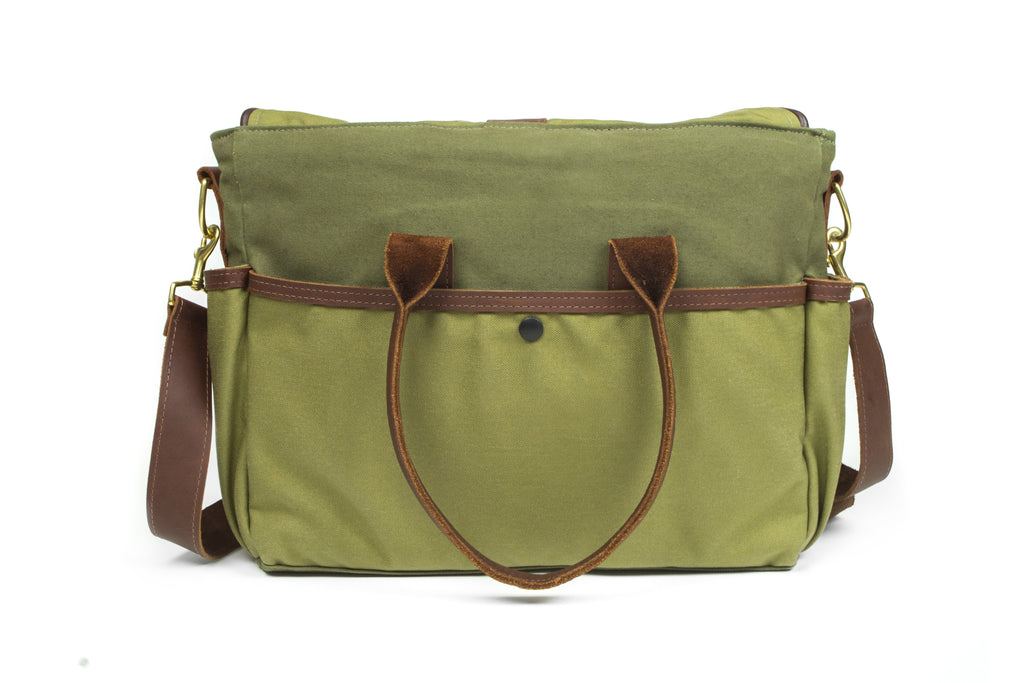d1cbb24630 Sword   Plough Green Signature Messenger Bag