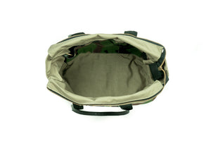 Camo Mini Zip Top Tote Bag