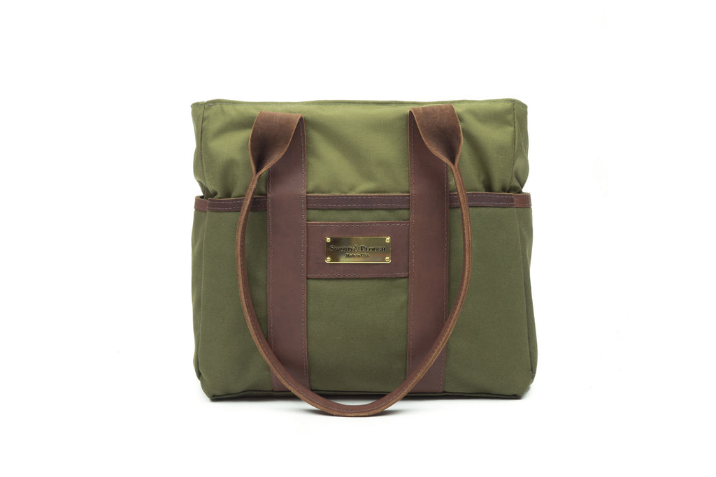 Green Mini Zip Top Tote Bag