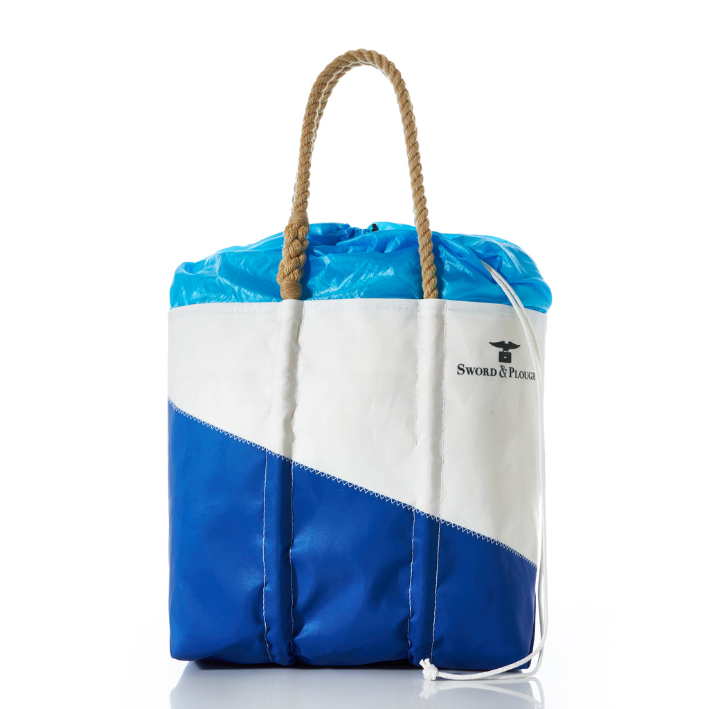 Sword & Plough and Sea Bags Collection  - Blue Parachute Expandable Top Tote