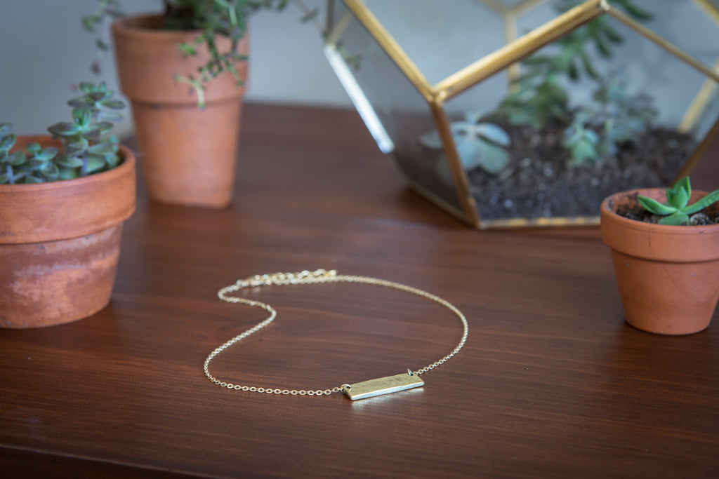 Jewelry - Brass Bar Necklace