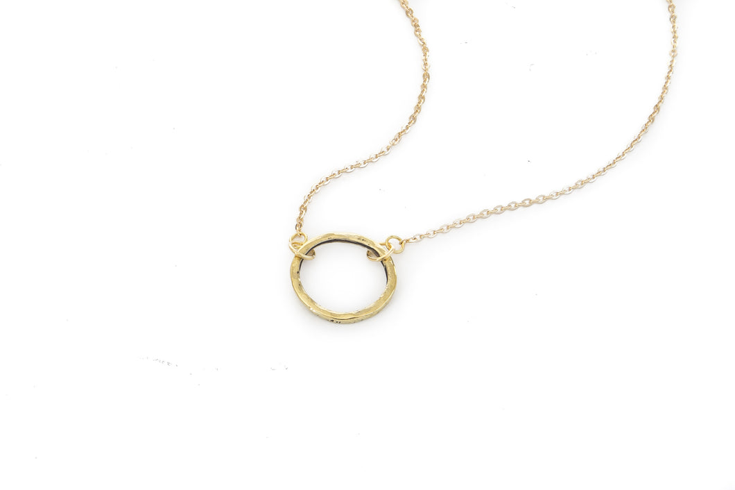 Jewelry - Brass Circle Necklace