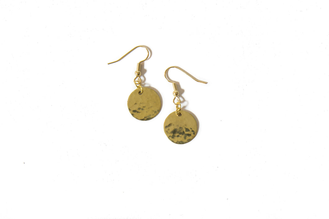 Jewelry - Brass Disc Earrings