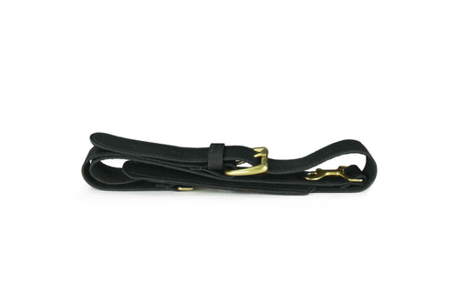 Strap - Black Leather Duffle Shoulder Strap