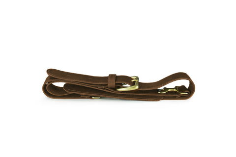 Strap - Brown Leather Duffle Shoulder Strap