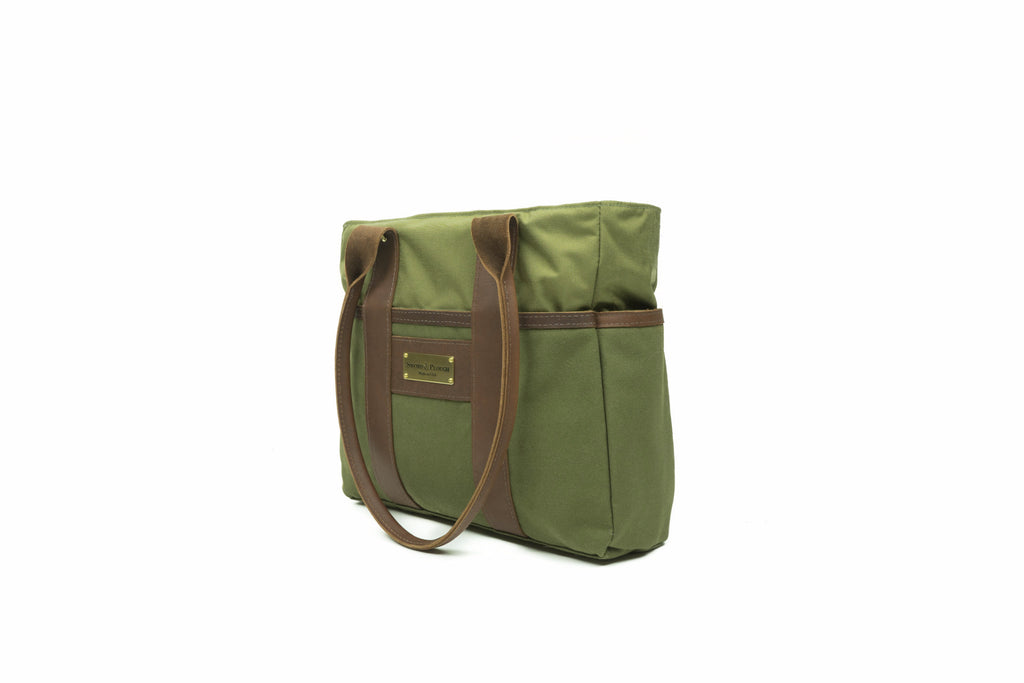 Tote Bag - Mini Zip Top Tote - Olive