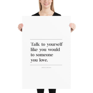 Talk To Yourself (Poster)