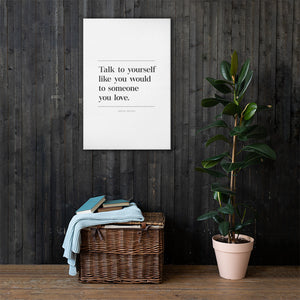 Talk To Yourself (Canvas)