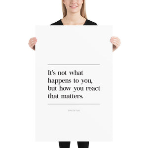 How You React (Poster)