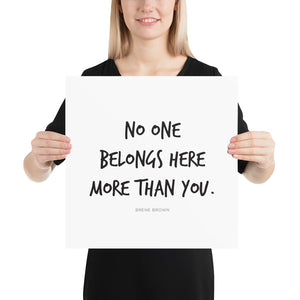 No One Belongs Here More Than You (Poster)