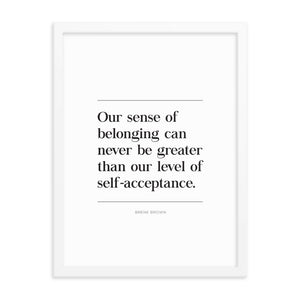 Self Acceptance Framed