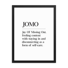 Load image into Gallery viewer, JOMO (Framed)