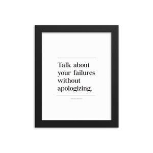 Talk About Failures (Framed)