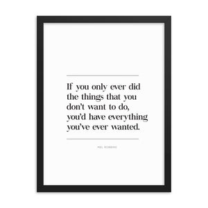 Everything You Wanted (Framed)