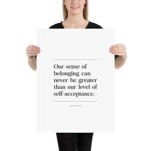 Self Acceptance (Poster)