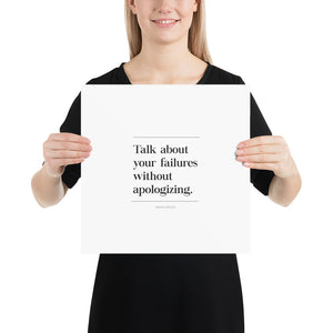 Talk About Failures (Poster)