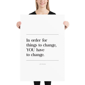Things To Change (Poster)