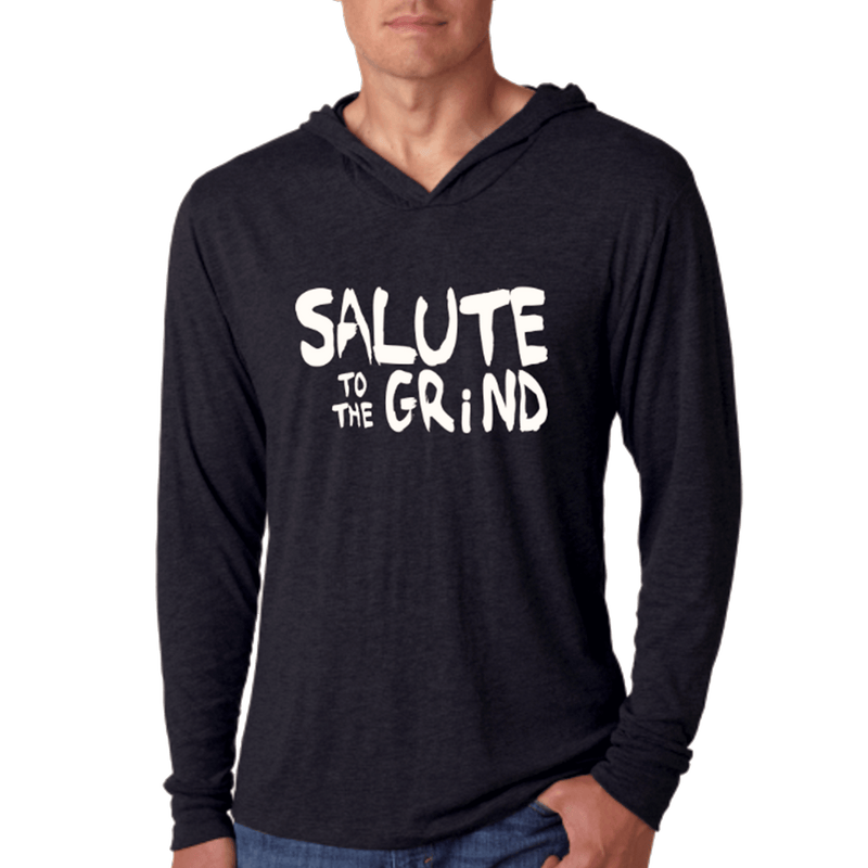 Mens Salute to The Grind Thin Hoodie