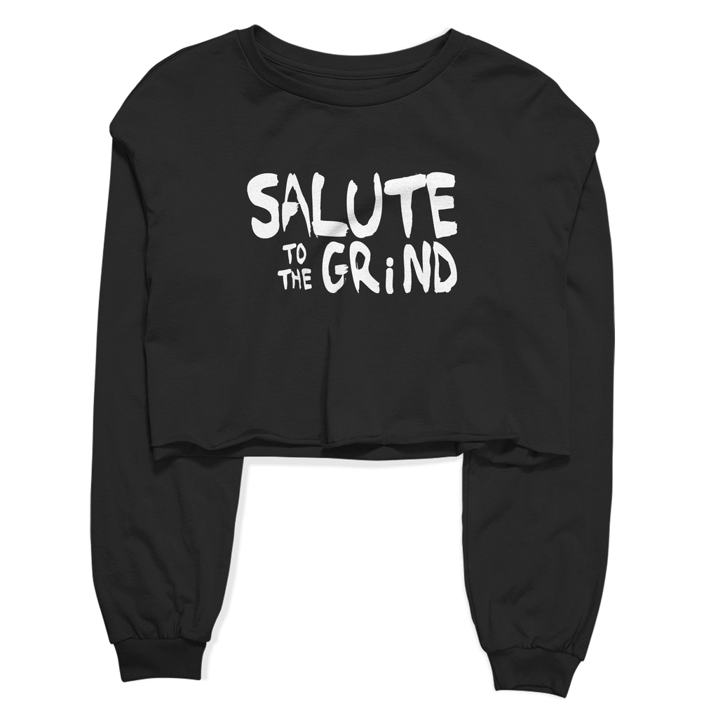 Women's Salute to The Grind Crop Top Fleece
