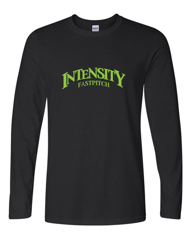 Indy Intensity Adult Black or Charcoal Softstyle Long Sleeve T-Shirt - L&M Spirit Gear