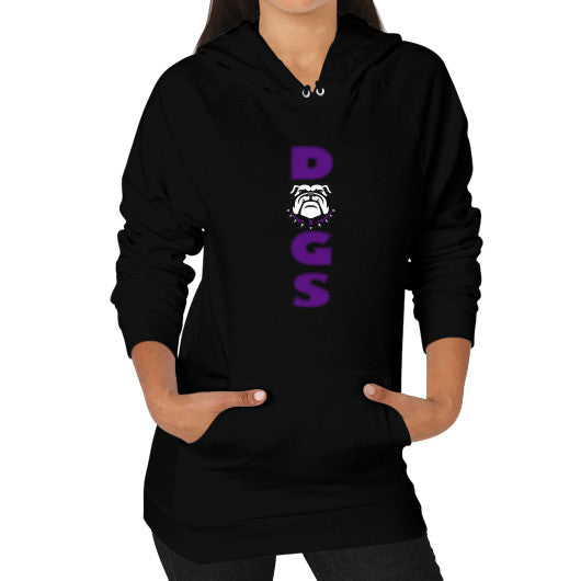 Vertical Dogs Hoodie (on woman) - L&M Spirit Gear