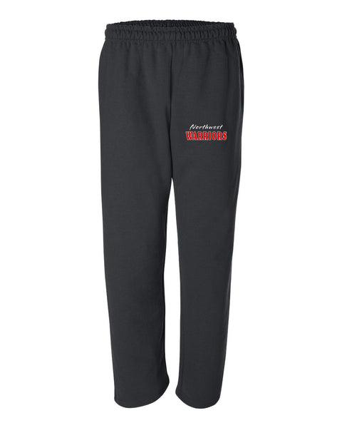 Northwest Warriors Basketball Black DryBlend Open Bottom Pocketed Sweatpants SP - L&M Spirit Gear