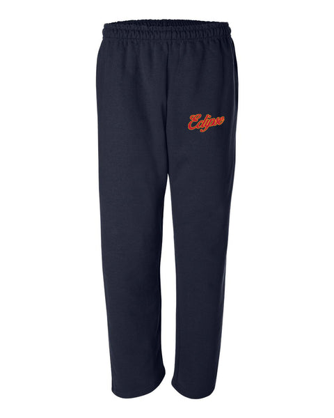 Eclipse Cook Navy DryBlend Open Bottom Pocketed Sweatpants EMB - L&M Spirit Gear